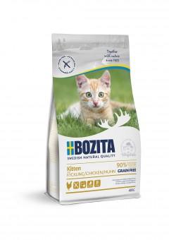 Bozita 400г Grain Free Chickenдля котят, молодых и беременных кошек, беззерновой с курицей 34/20