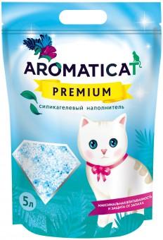 Aromaticat Premium 5 литров (2 кг) Селикагелевый впитывающий наполнитель для кошачьего туалета