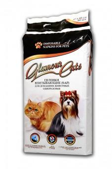 GlamourCats 45x60см 10шт Гелевые пеленки  для животных