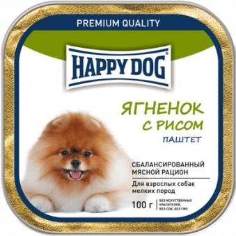 Happy Dog 100г паштет для собак малых пород Янёнок с рисом