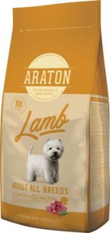 Araton 15кг сухой корм для взрослых собак, с ягненком и рисом