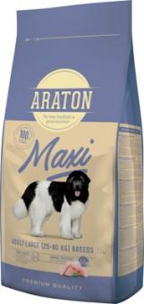 Araton 15кг сухой корм для взрослых собак крупных пород, с мясом птицы