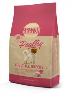 Araton 3кг сухой корм для взрослых собак, с мясом птицы
