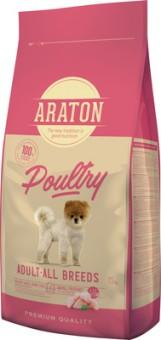 Araton 15кг сухой корм для взрослых собак, с мясом птицы