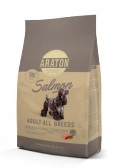Araton 3кг сухой корм для взрослых собак, с лососем и рисом