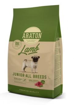 Araton 3кг сухой корм для щенков, с ягненком и рисом