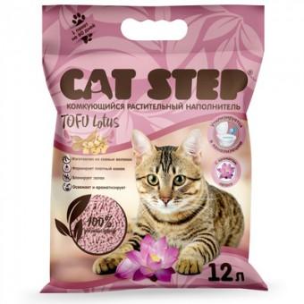 Cat step 5,62кг комкующийся растительный наполнитель Tofu Lotus
