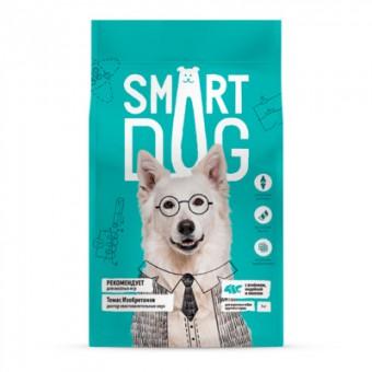 Smart Dog 18кг корм для взрослых собак крупных пород, с ягненком, лососем и индейкой
