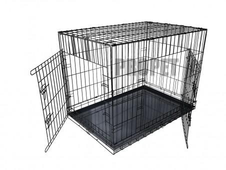 Propet клетка №7 120х78х86см 2-х дверная, черная, поддон пластиковый, вес 21 кг