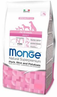 Monge Dog 12кг Speciality корм для собак всех пород свинина с рисом и картофелем