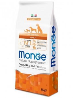Monge Dog 2кг Speciality корм для собак всех пород утка с рисом и картофелем