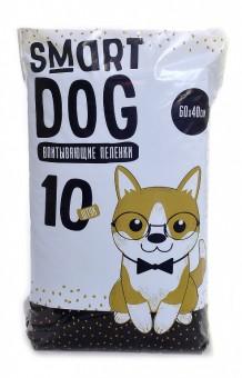 Smart Dog 60*40см 10шт Впитывающие пеленки для собак