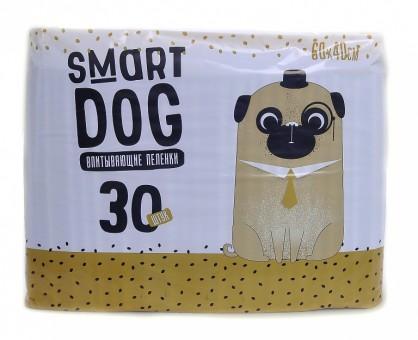 Smart Dog 60*40см 30шт Впитывающие пеленки для собак