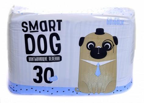 Smart Dog 60*60см 30шт Впитывающие пеленки для собак