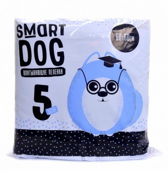 Smart Dog 60*60см 5шт Впитывающие пеленки для собак