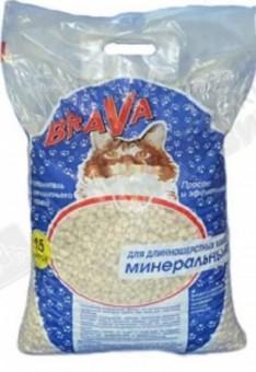 Brava 15л Минерал Наполнитель  для длинношерстных кошек
