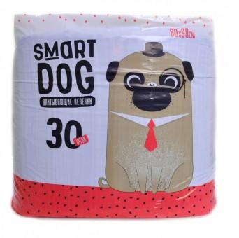 Smart Dog 60*90см 30шт Впитывающие пеленки для собак