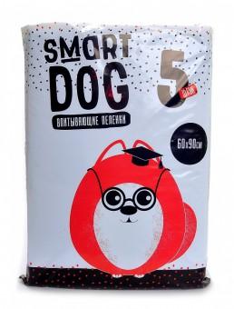 Smart Dog 60*90см 5шт Впитывающие пеленки для собак