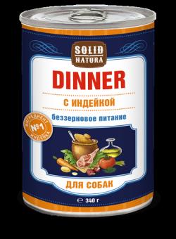 6шт.Solid Natura Dinner 0,34 кг Влажный корм Индейка