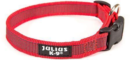 JULIUS-K9 ошейник для собак Color & Gray (27-42см/2см), красно-серый