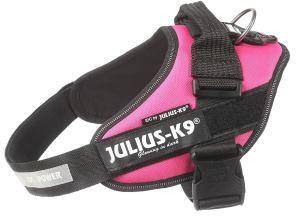 JULIUS-K9 шлейка для собак IDC®-Powerharness 1 (63-85см/ 23-30кг), темно-розовый