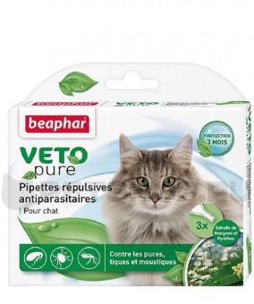 Beaphar Капли BIO от блох для кошек  3 пипетки