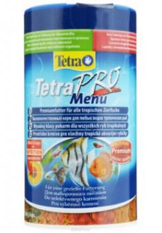 TetraPro Menu корм для всех видов рыб 4 вида мелких хлопьев 250 мл