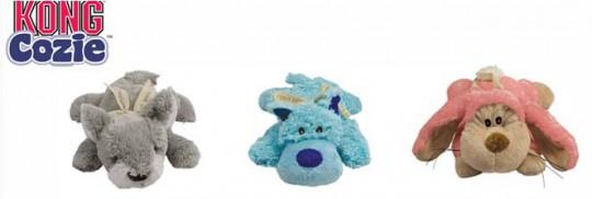 Kong игрушка для собак Кози Пастель (волк,коала,кролик)плюш,средние