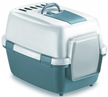 Stefanplast Туалет 55*40*40см закрытый Wivacat, с угольным фильтром, синий,