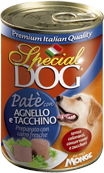 Special Dog 400г консервы для собак паштет ягненок с индейкой