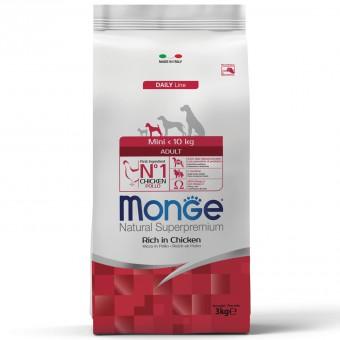Monge Dog 3 кг Mini Сухой корм для взрослых собак мелких пород