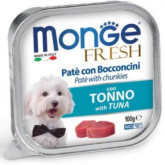 6шт.Monge Dog Fresh консервы для собак треска 100г