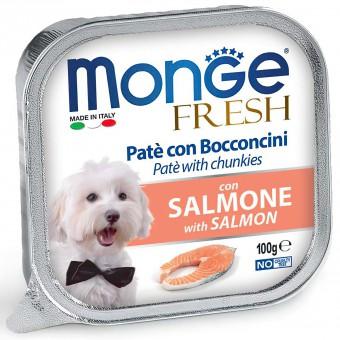 6шт.Monge Dog Fresh консервы для собак лосось 100г