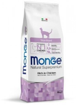 Monge Cat 10 кг Sterilised корм для стерилизованных кошек