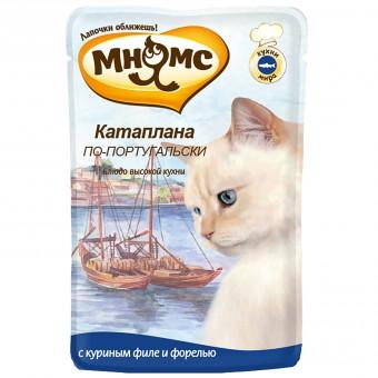 Мнямс 85 г паучи для кошек Катаплана по-португальски, с форелью, 12шт