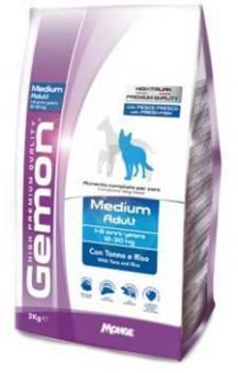 Gemon Dog Medium 15 кг корм для взрослых собак средних пород тунец с рисом