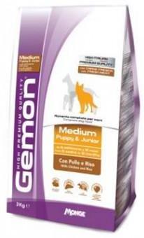 Gemon Dog Medium 3 кг корм для щенков средних пород курица с рисом