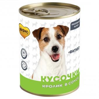 Мнямс 400г Кусочки в соусе с кроликом для собак всех пород Фитнес