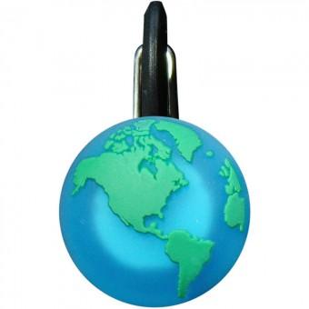 Niteize Green Eart КлипЛит Зеленая планета Светящийся брелок на ошейник, малый