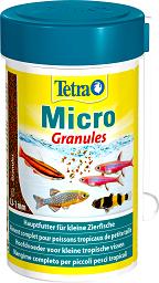 Tetra Micro Granules корм для мелких видов рыб 100 мл