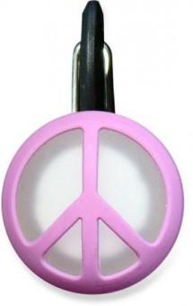 Niteize Peace Sigh Pink КлипЛит Розовый пацифик Светящийся брелок на ошейник, малый