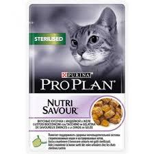 Pro Plan 85г Sterilised кусочки в желе для кастрированных кошек с индейкой