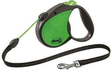 flexi рулетка Limited Edition Neon Reflect S (до 12 кг) трос 5 м, зеленый