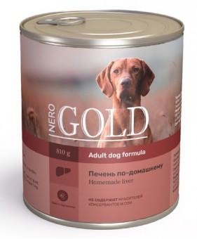 Nero Gold 0,8кг Home Made Liver консервы для собак, Печень по-домашнему