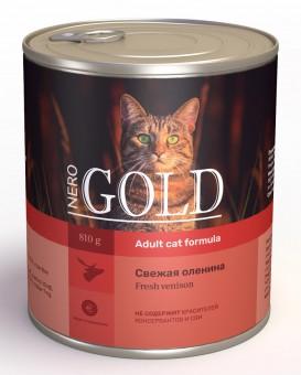 Nero Gold 0,8кг Venison консервы, Свежая оленина