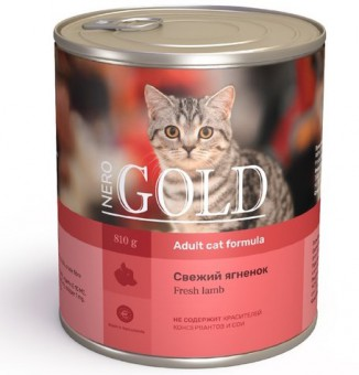 Корм для кошек Nero Gold с ягненком 810 г (кусочки в желе)