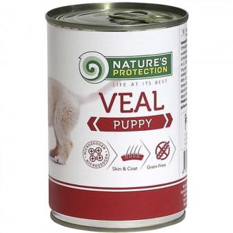 Nature's Protection Puppy Veal консервы для щенков с телятиной, 400г