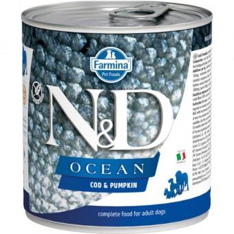 Farmina N&D Dog Ocean 285 г консервы для собак Тыква и Треска