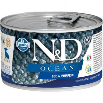 Farmina N&D Dog Ocean 140 г консервы для щенков мини пород Тыква и Треска