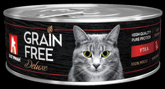 Зоогурман 100г Grain Free консервы для кошек Утка